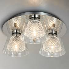 i4dzine horatio cut crystal bathroom flush light
