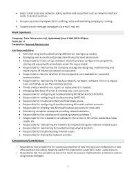 system administrator resume sample doc format 2 1