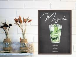 Margarita Sign, Margarita Wall Art, Margarita Artwork, Margarita Printable,  Alcohol Printables   Wall art sign, Wall art, Printable wall art