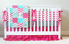 image of baby girl elephant bedding sets pink nursery twin cute theme pink and gray elephant crib bedding