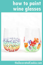 how to paint on wine glasses and a roundup of painted wine glass ideas wineglass