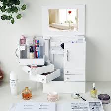makeup organizer accessory storage multiple drawers desktop drsser