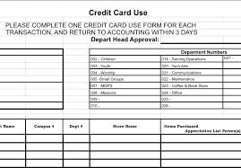 Credit Card Reconciliation Form — Churchtecharts