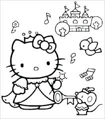 Free Hello Kitty Coloring Pages Princess Hello Kitty Coloring Pages
