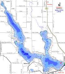 Walloon Lake Map Charlevoix County Michigan Fishing Michigan