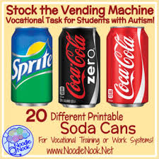 Free Printable Soda Vending Machine Labels Custom Soda Can Stocking A Work Task For Vocational Prep In Autism Units