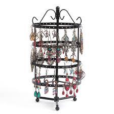 Metal Display Racks And Stands Black Metal Necklace Earrings Holder Jewelry Organizer Display 93