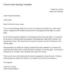 a formel letter formal letter apology template just letter templates
