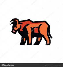 рисунок бык стилизованный рисунок быка векторное изображение