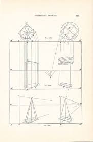 1892 technical drawing antique math geometric mechanical drafting interior design blueprint art ilration framing 100 years old