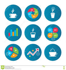 Coffee Beverage Chart Coffee Cup Icon Hot Drinks Glasses Symbols Stock Vector