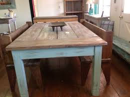 small farmhouse table and chairs