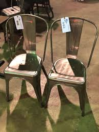 metal cafe chairs elegant pair of grey metal cafe chairs able auctions