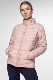 Light Pink Down Jacket Womens Synthetic Down Jacket Kudp300 Light Pink