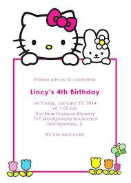 Free Birthday Invitations Hello Kitty Invitations Free Download Lovely Hello Kitty Invitation