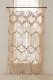 macrame cord curtain