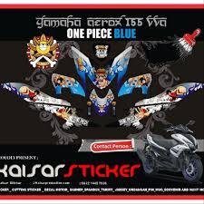 Aerox Decals Design Sticker Striping Decal Motor Yamaha Aerox 155 One Piece Blue Design