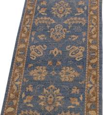 kafkaz peshawar stefany light blue brown wool rug 2 7x12 3 traditional hall and stair runners by bareens designer rugs