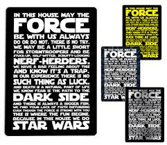 in this house we do star wars metal wall sign plaque e force jedi e