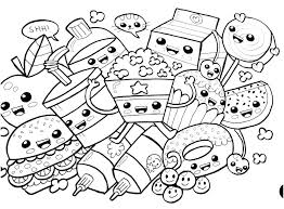 Draw So Cute Coloring Pages Food And Drink Kawaii Of Page Gallery