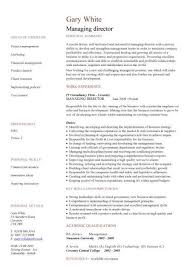 Managing Director Cv Sample, Managerial Cvs, Curriculum Vitae ...