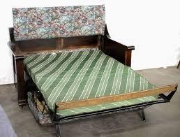 antique kroehler sofa bed vintage