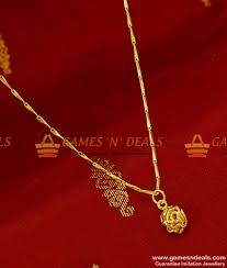 smdr88 gold plated jewellery fancy small 3d rose pendant with short chain indian jewelry 130 1 850x1000 jpg
