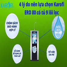 Máy lọc nước Karofi eRO80 - 9 cấp có tủ IQ cao cấp (+ đèn UV) chính hãng  giá tốt nhất 11/2020