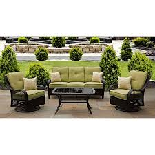 Sunroom furniture set Modern Hanover Orleans4pcsw Orleans 4piece Lounging Set Includes Sofa Swivelgliders Amazoncom Sunroom Furniture Amazoncom