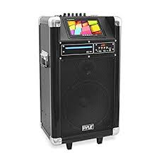 sound system with wireless speakers. pyle portable pa speaker karaoke machine boombox wireless microphone sound system bluetooth built- with speakers s