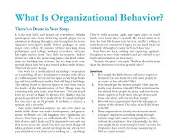 What Is Organizational Behavior Solved What Is Organizational Behavior Theres A Drone I