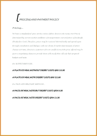 Free Sample Proposal For Services Letter Catering Contract Glotro Co