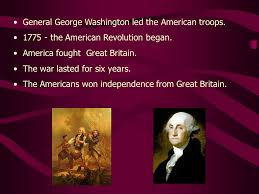Image result for Washington led American forces for six years during the Revolutionary War.