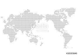 世界地図 ドット イラスト 黒 グラデーション日本中心 Fichier