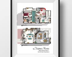 I Love Lucy 2nd Apartment Floor Plan Famous TV Show FloorTv House Floor Plans