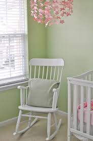 green nursery furniture. Baby Nursery Rockers : Room Design Idea Using White Crib And Glider Rocking Chair Plus Green Furniture