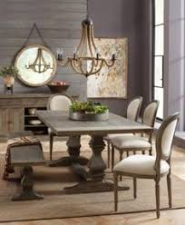 tristan trestle dining furniture 6 pc set trestle dining table 4 side chairs bench created for macy s