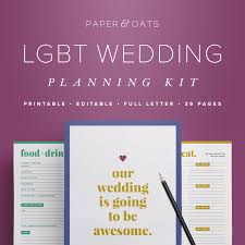 wedding planning checklist template lgbt wedding planning pdf gay lesbian wedding planner book
