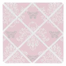 Butterfly Memo Board Enchanting Pink And Gray Alexa Damask Butterfly Fabric MemoryMemo Photo