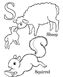 Small Picture Alphabet Coloring Pages Letter S Free printable farm ABC