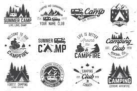 Summer Camp Vector Illustration Concept For Shirt Or Logo