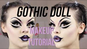 gothic doll makeup tutorial you