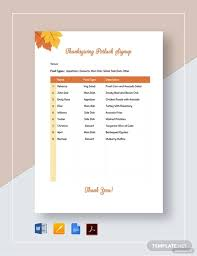 Potluck Signup Sheet 16 Free Pdf Word Documents Download