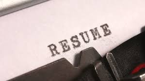 Typing A Resume Or Curriculum Vitae Of Previous Experience And Education  For A Job Application On An Old Manual Typewriter. Stock Footage Video  5990819 | ...