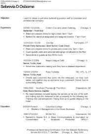 Bar Tender Resume Sports Bar Bartender Resume Resume Sample Source