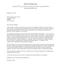 Sample Cover Letter For College Students Cover Letter Examples