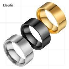 <b>Eleple</b> Simple <b>Titanium Stainless Steel</b> Rings for lovers Geometry ...