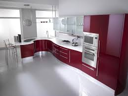 Red Kitchen Floor Kitchen Red Kitchen Cabinets Sink Faucet White Tile Floor