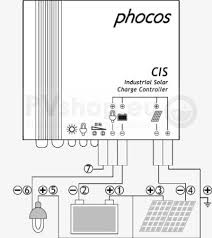 pv solar system diagrams pv solar diagram of phocos cis waterproof charge controller for 12 24v systems