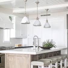 Industrial kitchen lighting pendants Oversized White Enamel Industrial Light Pendants With Gray Wash Center Island Decorpad White Enamel Industrial Kitchen Pendant Lights Design Ideas